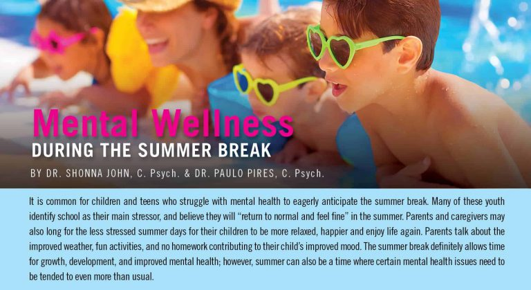 Mental Wellness During the Summer Break