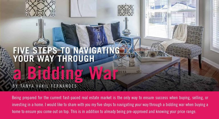 Five Steps to Navigating Your Way Through a Bidding War