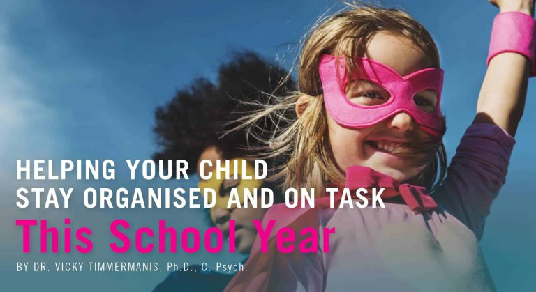 Helping Your Child Stay Organized and On Task This School Year