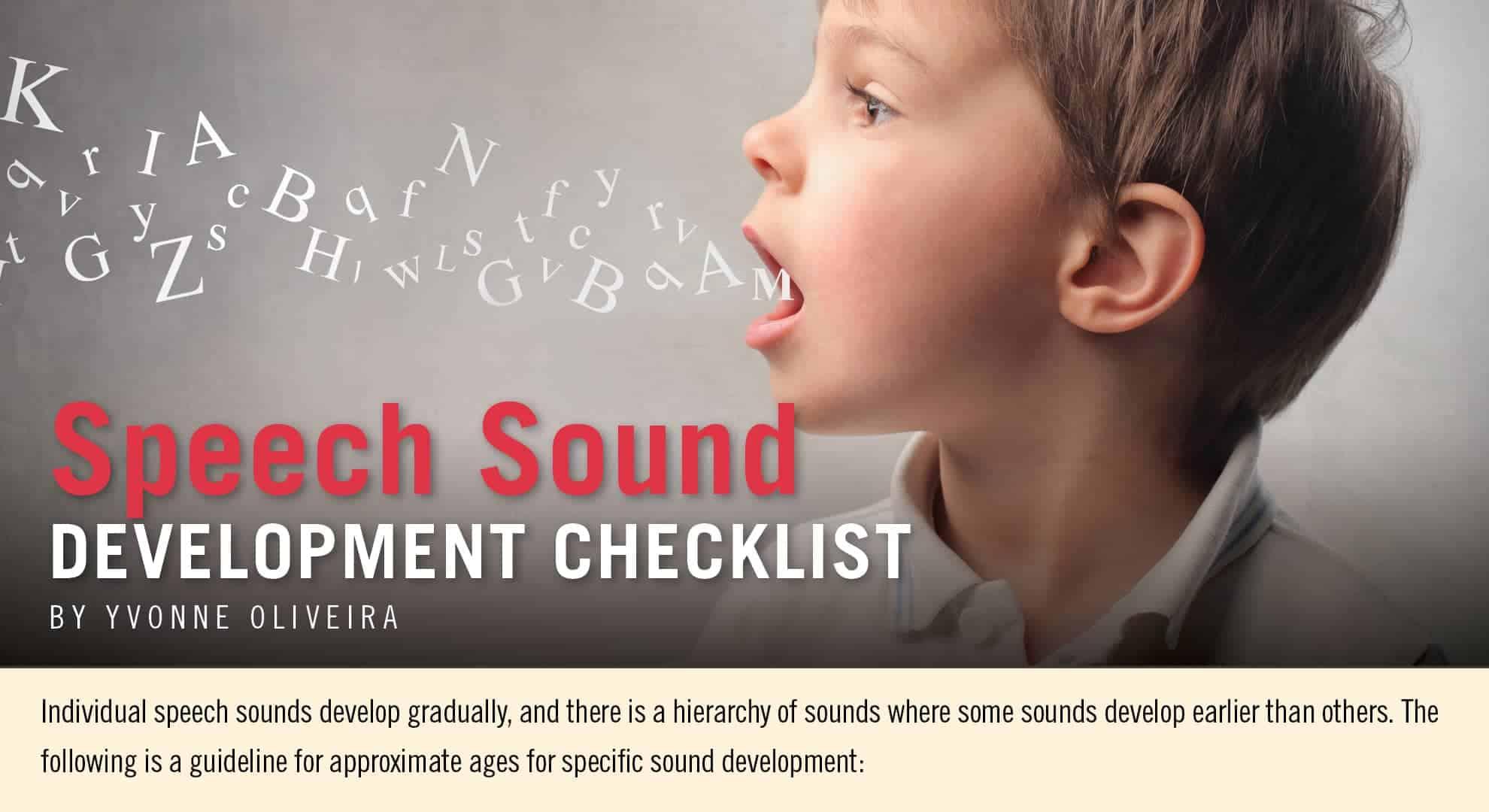 Speech Sound Development Checklist