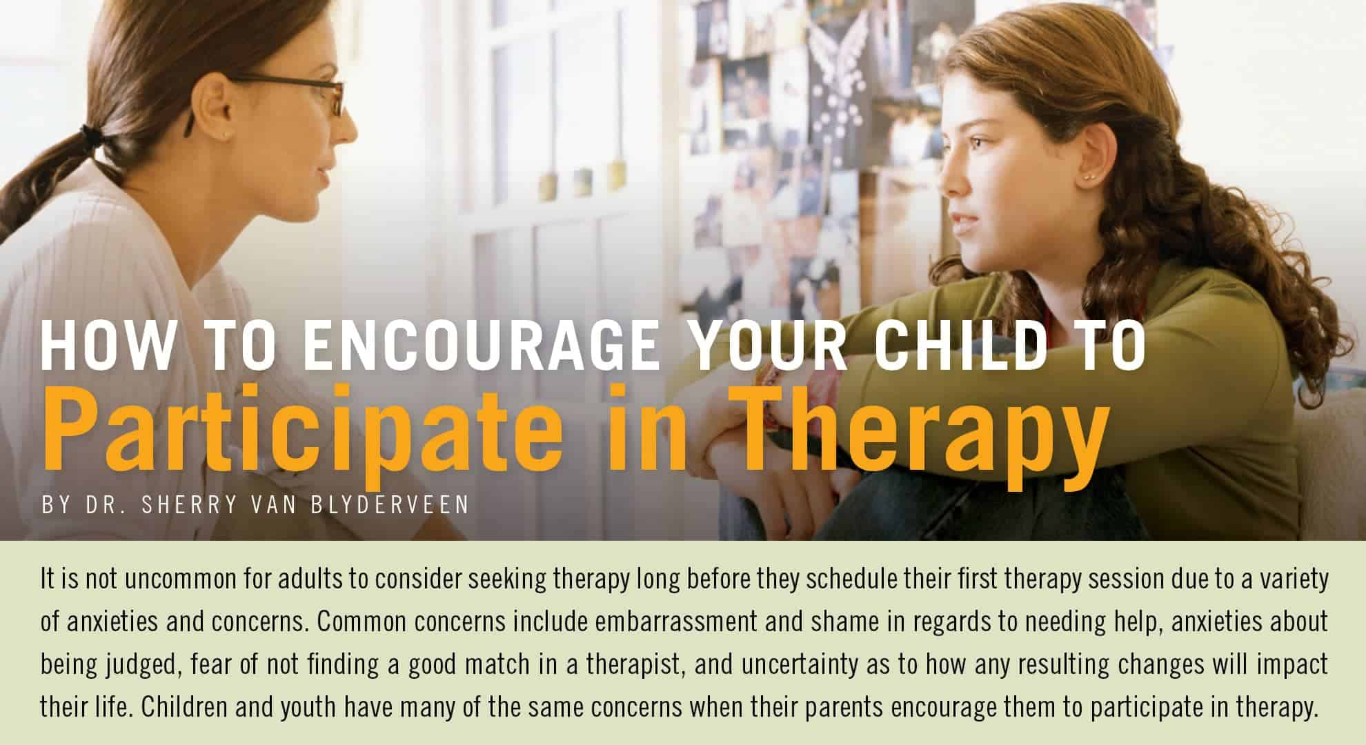 How to Encourage Your Child to Participate in Therapy